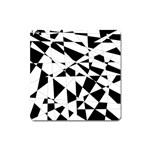 Shattered Life In Black & White Magnet (Square)