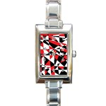 Shattered Life Tricolor Rectangular Italian Charm Watch