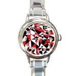 Shattered Life Tricolor Round Italian Charm Watch