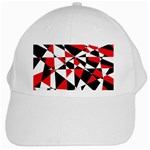 Shattered Life Tricolor White Baseball Cap