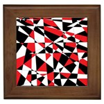 Shattered Life Tricolor Framed Ceramic Tile