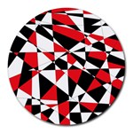 Shattered Life Tricolor 8  Mouse Pad (Round)