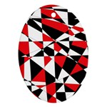 Shattered Life Tricolor Oval Ornament