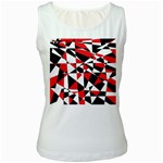Shattered Life Tricolor Women s Tank Top (White)