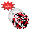 Shattered Life Tricolor 1.75  Button (10 pack)