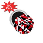 Shattered Life Tricolor 1.75  Button Magnet (100 pack)