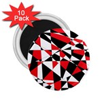 Shattered Life Tricolor 2.25  Button Magnet (10 pack)