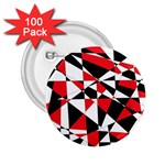 Shattered Life Tricolor 2.25  Button (100 pack)