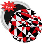 Shattered Life Tricolor 3  Button Magnet (10 pack)