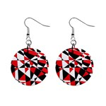 Shattered Life Tricolor Mini Button Earrings