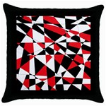 Shattered Life Tricolor Black Throw Pillow Case