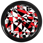 Shattered Life Tricolor Wall Clock (Black)