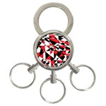 Shattered Life Tricolor 3-Ring Key Chain