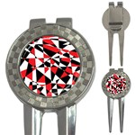 Shattered Life Tricolor Golf Pitchfork & Ball Marker