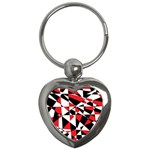 Shattered Life Tricolor Key Chain (Heart)