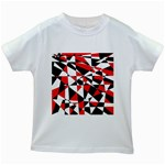 Shattered Life Tricolor Kids T-shirt (White)
