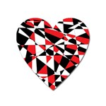 Shattered Life Tricolor Magnet (Heart)
