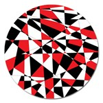 Shattered Life Tricolor Magnet 5  (Round)