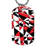 Shattered Life Tricolor Dog Tag (One Sided)