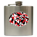 Shattered Life Tricolor Hip Flask