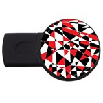 Shattered Life Tricolor 2GB USB Flash Drive (Round)