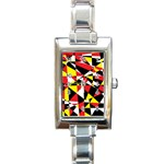 Shattered Life With Rays Of Hope Rectangular Italian Charm Watch