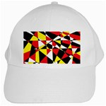Shattered Life With Rays Of Hope White Baseball Cap