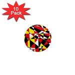 Shattered Life With Rays Of Hope 1  Mini Button Magnet (10 pack)