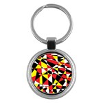 Shattered Life With Rays Of Hope Key Chain (Round)