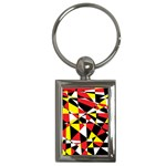 Shattered Life With Rays Of Hope Key Chain (Rectangle)