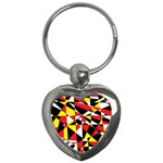 Shattered Life With Rays Of Hope Key Chain (Heart)