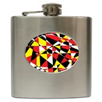 Shattered Life With Rays Of Hope Hip Flask