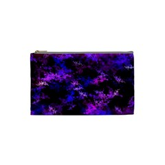 Purple Skulls Goth Storm Cosmetic Bag (small) by KirstenStar