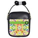 Pasley Print In Green Girls Sling Bag