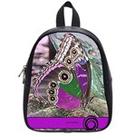 Rendition Of An Owl Butterfly School Bag (Small)