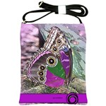 Rendition Of An Owl Butterfly Shoulder Sling Bag