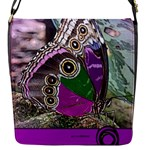 Rendition Of An Owl Butterfly Flap Closure Messenger Bag (S)