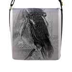 Pencil Horse 2 Flap Closure Messenger Bag (L)
