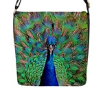 Peacock 1 Flap Closure Messenger Bag (L)