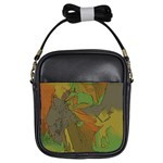 Posteredge Green Girls Sling Bag