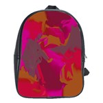 Camo In Pink 1 School Bag (XL)
