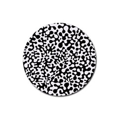 Black And White Blots Drink Coasters 4 Pack (round) by KirstenStar
