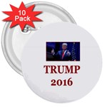 TRUMP:No Time for Tone ! 3  Button (10 pack)