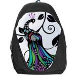 Peacock Illustration Backpack Bag