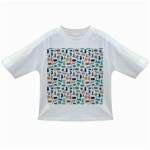 Blue Colorful Cats Silhouettes Pattern Infant/Toddler T-Shirts