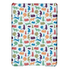 Blue Colorful Cats Silhouettes Pattern Ipad Air Hardshell Cases by Contest580383