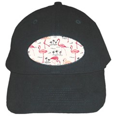 Flamingo Pattern Black Cap by Contest580383