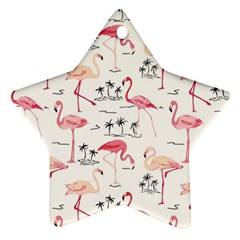 Flamingo Pattern Ornament (star)  by Contest580383