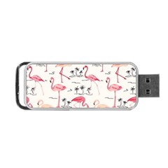 Flamingo Pattern Portable Usb Flash (two Sides) by Contest580383