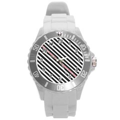 Selina Zebra Round Plastic Sport Watch (l) by Contest580383